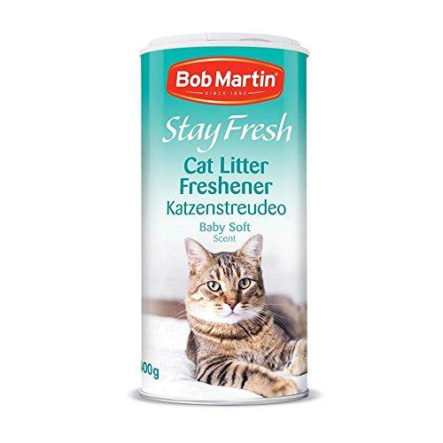 Bob Martin Stay Fresh Lot de 6 désodorisants pour litière de chat Parfum doux 400 g