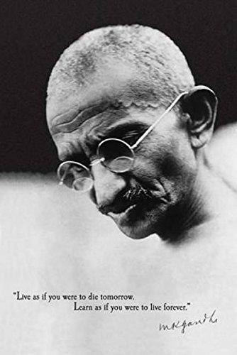 1art1 37965 Mahatma Gandhi - Lebe Und Lerne Poster 91 x 61 cm
