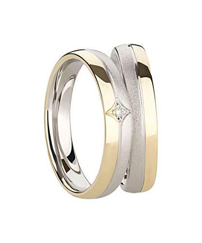 !!! Angebot !!! Ring Eheringe Partnerringe Verlobungsringe Silber Gold 925 mit Diamant + Gravur