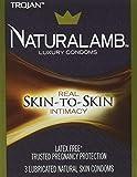 Trojan NaturaLamb Latex Free Luxury Condoms, 3ct