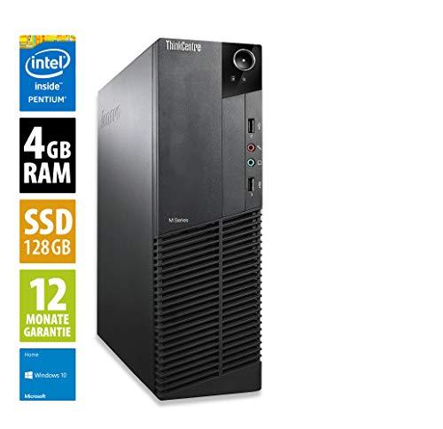 Lenovo ThinkCentre M73 SFF - Pentium G3240 @ 3,1 GHz - 4GB RAM - 128GB SSD - Win10Home (Zertifiziert und Generalüberholt)