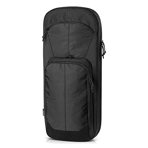 """Savior Equipment Specialist Series 30"""" 34"""" Covert Discreet Tactical SBR Rifle Bag, Low Profile Gun Backpack Soft Firearm Case, Perfect Bug Out Truck Conceal Bag, Hideable Backpack Straps, MOLLE Panel"""