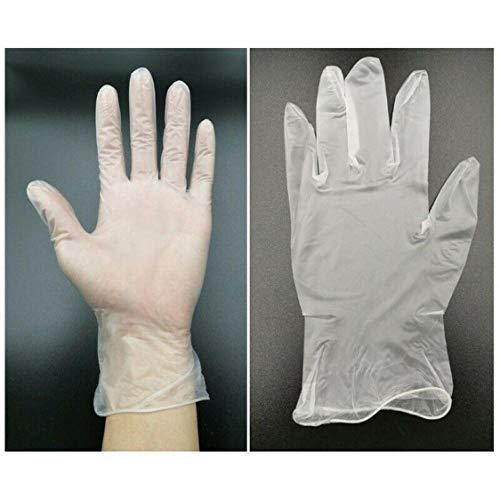 Wegwerphandschoenen 100/200 stuks PVC levensmiddelen plastic handschoenen restaurant keuken wegwerphandschoenen grill milieuvriendelijk levensmiddelhandschoenen groente- en groentehandschoenen X-Large 100 stuks.