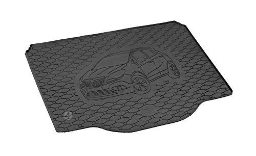 Passgenau Kofferraumwanne geeignet für Opel Mokka ab 2012 ideal angepasst schwarz Kofferraummatte + Gurtschoner