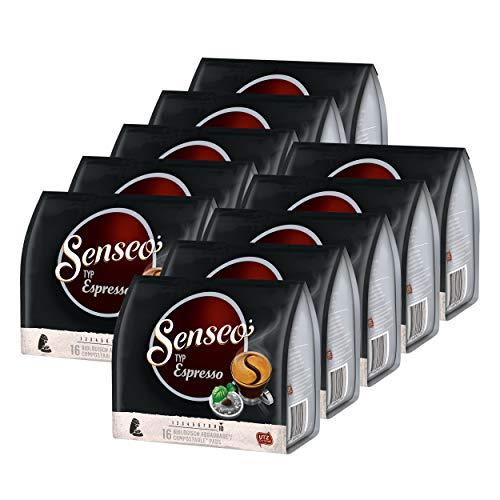 Senseo Typ Espresso, Kaffeepads, Aromatisch und Vollmundig, Röstkaffee, Kaffee, 160 Pads