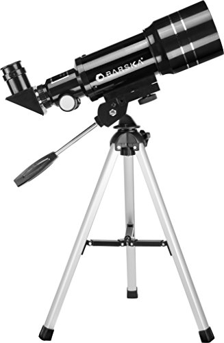 BARSKA Starwatcher 300x70mm 225 Power Refractor Telescope with Table Top Tripod and 3X Barlow Lens, Black (AE12932)