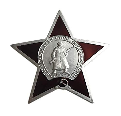 Ganwear® UdSSR sowjetisch-russische Armee Militär WW2 Award Mini-Orden von roter Stern Metall Anstecknadel