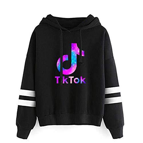 Tik Tok Hoodie, Unisex Mode Print Hoodie Casual Langarm Sweatshirt Musik Player Tops Adult/Tik Tok B/XXS