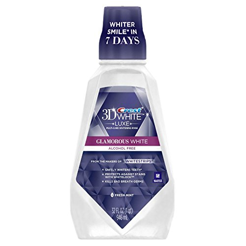 Crest Crest 3D White Multi-Care Whitening Rinse, Glamorous White, Fresh Mint 32 oz - 2 pk.