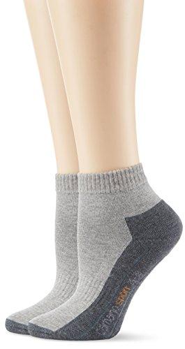Camano 5932 - Chaussettes de sport - Homme, Gris (Grey 10), 35/38 (taille fabricant: 35/38)