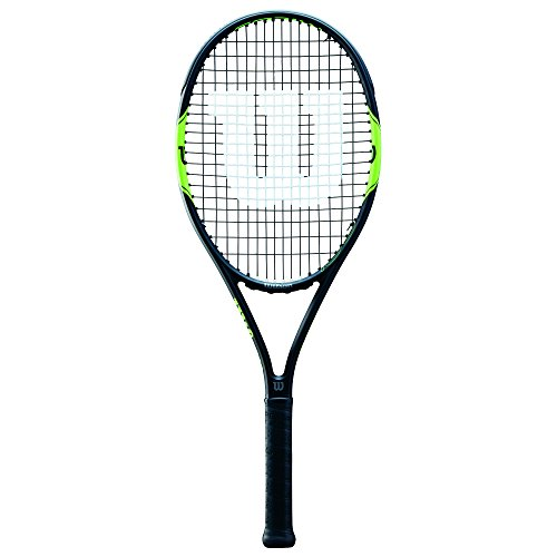 Wilson Milos Tour 100, WRT57370U3 Racchetta da Tennis per Giocatori Ambiziosi Unisex Adulto, Verde/Nero, L3