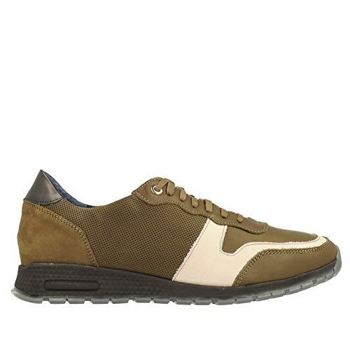 NiK Shoes - Zapatillas de Piel para Hombre, Material Interior de Piel, Color Verde, Talla 42 EU