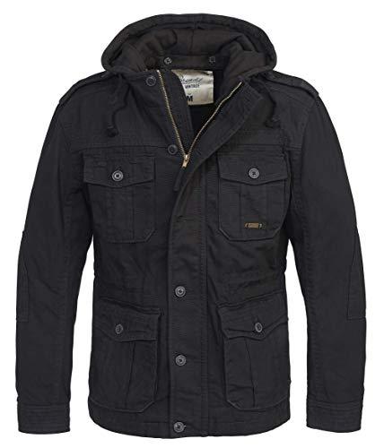Brandit Urban Vintage Parka Sweathood Jacke (Black-Black, XL)