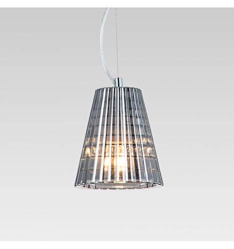 KOSILUM - Suspension verre plissé à fil transparent - Qom - Lumière Blanc Chaud Eclairage Salon Chambre Cuisine Couloir - 5W - - G9 - IP20