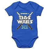 Shirtracer Zur Geburt - Das Wars Jetzt Habe ich die Macht Junge - 1/3 Monate - Royalblau - Babybody Junge - BZ10 - Baby Body Kurzarm für Jungen und Mädchen