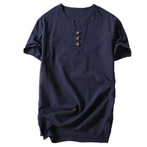 Verano Manga Corta Camiseta De Los Hombres Slido Fresco Y Transpirable Grande Casual Hombres T-Shirt