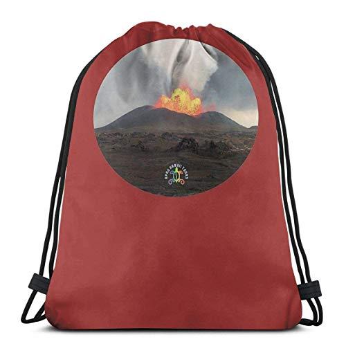 XCNGG Big Daddy With Apau Hawaii Tours Logo Waterproof Foldable Sport Sackpack Gym Bag Sack Drawstring Backpack
