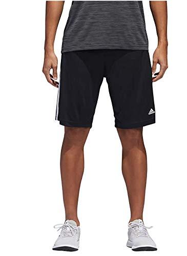 adidas Mens Performance Climalite Triple Stripe Gym Athletic/Training Shorts (Black, Medium)