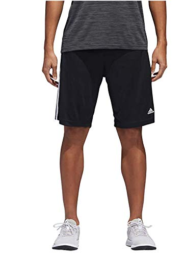 adidas Mens Performance Climalite Triple Stripe Gym Athletic/Training Shorts (Black, Large)