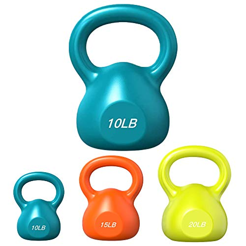 VOMSASN 10 LB Kettlebell Weights for Home Gym and Home Workouts Strength and Core Training, Weightlifting, Conditioning and More