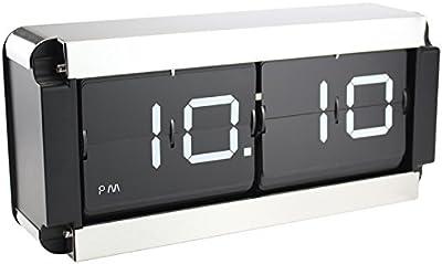 QXX Elegante Reloj desplegable de Acero Inoxidable con Forma de rectángulo para Sala de Estar Escritorio