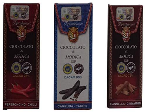 Cioccolata di modica aromatizzata alla cannella con 75% di cacao