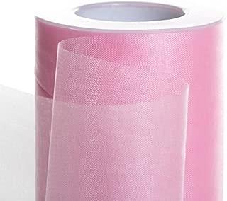 Koyal Wholesale 25-Yard Sheer Organza Fabric Roll, 6-Inch, Light Pink