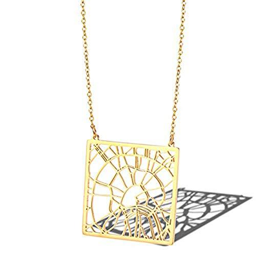 Ccyyy Ketting, Moskou, Rusland stadskaart hanger, titanium stalen accessoires 18K gouden dames sleutelbeen ketting