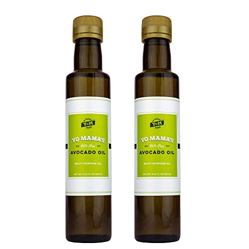 Pure Avocado Oil by Yo Mama's Foods - Pack of (2) - Low Carb, Low Sodium, and Gluten-Free