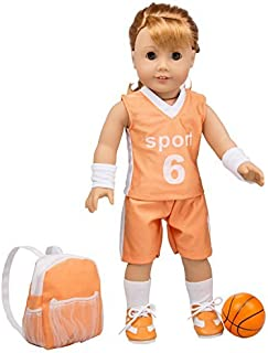 Dress Along Dolly Basketball Uniform Outfit for American Girl & 18