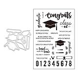 Graduation Cap Silikon Klar Stempel Blatt, Scrapbooking Album Silikon Stempel, Clear Stamps DIY...
