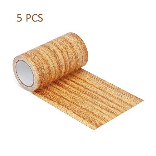 cuffslee Holzmaserung Klebeband Selbstklebende Reparatur Patch Reparatur Tape Patch Holzstrukturierte Klebeband Für Tür Boden Tisch Und Stuhl 5PCS