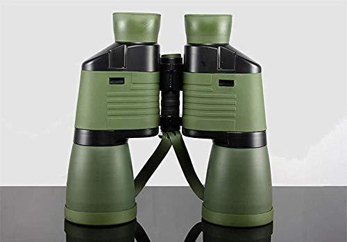 BINGFANG-Wastronómico 8X30 Prismáticos débil luz de la Noche de la visión al Aire Libre Impermeable Portable del Telescopio Telescopio brújula, Armygreen, 10x50 Telescopio