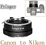 Fringer EF-NZ Auto Focus Adapter Ring Compatible with Canon EF Lens to Nikon Z Mount Z6 Z7 Z50 Cameras Adapters