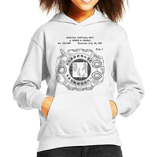 Cloud City 7 Digimon Digital Virtual Pet Patent Kid's Hooded Sweatshirt
