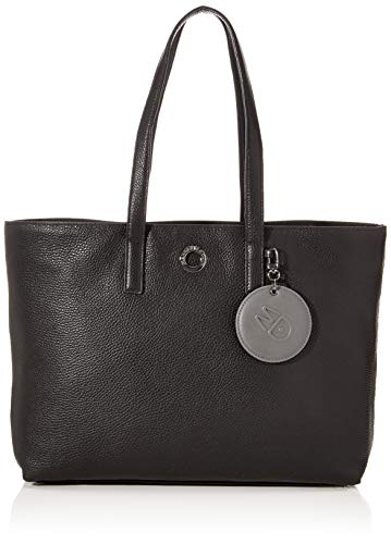 Mandarina Duck Damen Mellow Leather Umhängetasche, Schwarz (Nero), 15x27x36 Centimeters