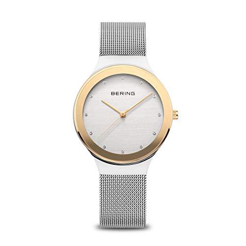 BERING Reloj Analógico Classic Collection para Mujer de Cuarzo con Correa en Acero Inoxidable y Cristal de Zafiro 12934-010