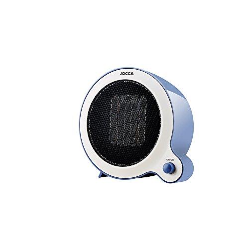 Jocca - Mini Calefactor Eléctrico cerámico de aire caliente | Resistencia PTC | Protección contra sobrecalentamiento | Ahorro de Espacio | Silencioso
