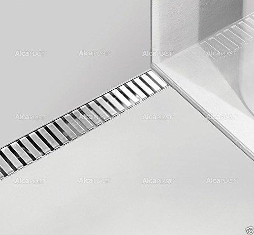 Alcaplast APZ4 Flexible Bodenablaufrinne-Duschrinne,mit Edelstahlrost - 900 mm (Line)