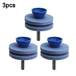 LOREMYI Lot de 3 aiguiseurs de lames de tondeuse à gazon universels double couche durable pour perceuse manuelle
