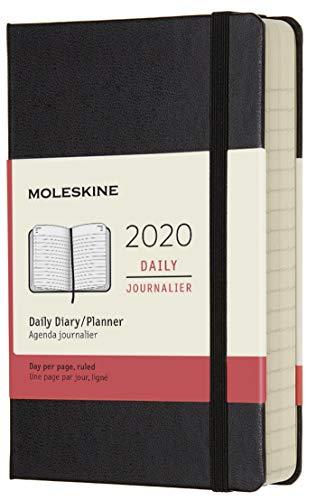 Moleskine - Agenda Diaria de 12 Meses 2020, Tapa Dura y Goma...