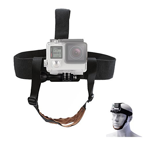 TEKCAM Adjustable Head Strap Mount Chin Belt Compatible with Gopro Hero 6/5 Black Session AKASO EK7000 DBPOWER APEMAN 4K Waterproof Action Camera Skiing Surfing Cycling