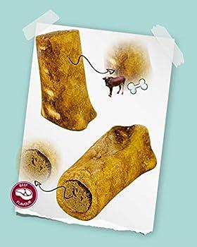 AVANZONA Friandises pour Chiens, Snacks Os de bœuf fumé avec Farce de bœuf, Calcium, friandises, nutritif et Savoureux, Jouet à mâcher pour Petits Moyens et Grands Chiens. Environ 200G