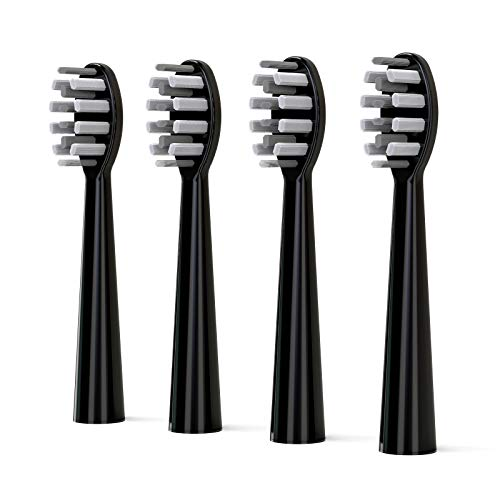 cidu Electric Toothbrush Replacement Heads (4 Pack) for cidu Electric Toothbrush K2 Black