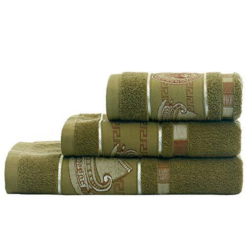 PrittUHU 100% algodón Conjunto de Toallas de baño patrón geométrico Toalla de baño para Adultos Cara de Mano Toallas de Mano Terry toalth Toalla Deportiva (Color : 6, Size : 4pcs)