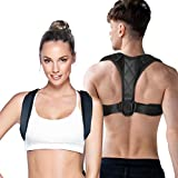 Posture Corrector for Men and Women, Upper Back Brace for Posture Correction, Adjustable Shoulder Posture Brace Straightener Support Clavicle Chest Spinal Brace for Neck Shoulder Back
