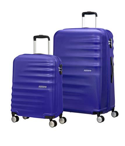 American Tourister 74136/4436 WaveBreaker Juego de 2 Maletas, 96 Litros, Color Azul