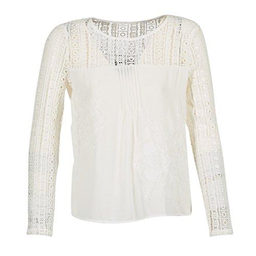 Desigual Blus_irea, Blusa para Mujer, Beige (Crudo 1001), M (Talla de fabricante:Large)