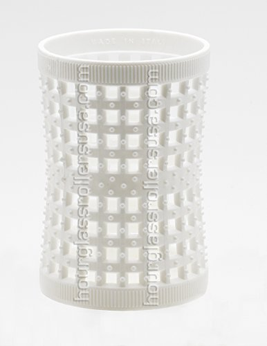 Large White Hourglass Hair Rollers 47mm/1.85in – Pack of 6