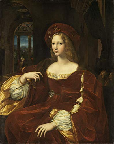 Berkin Arts Raffaello Sanzio Giclee Canvas Print Paintings Poster Reproduction(Portrait of Dona Isabel De Requesens Vice Queen of Naples)#XFB